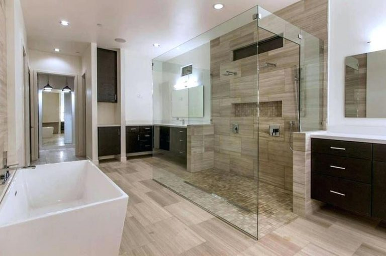 bathroom-flooring-trends-2018-best-for-popular-designs-designing-idea-bathrooms-stunning-contemporary-master-large-glass-shower-with-lim - Copy